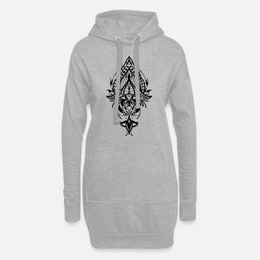 Mandala lotus flower symmetrical gift - Women's Hoodie Dress