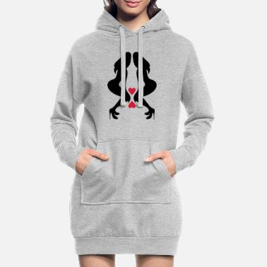 Silhouette Underwear ۞»♥Sexy Twin women on Killer Stilettos♥«۞ - Women's Hoodie Dress