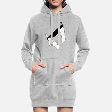 Feet Underwear Panties off - Women's Hoodie Dress