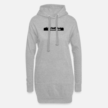 Nose Munich skyline - Women's Hoodie Dress