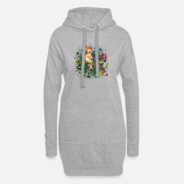 Wing Colorful bird - Women's Hoodie Dress