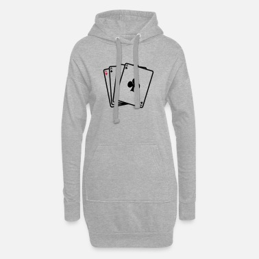 Cards poker cards - Robe sweat Femme