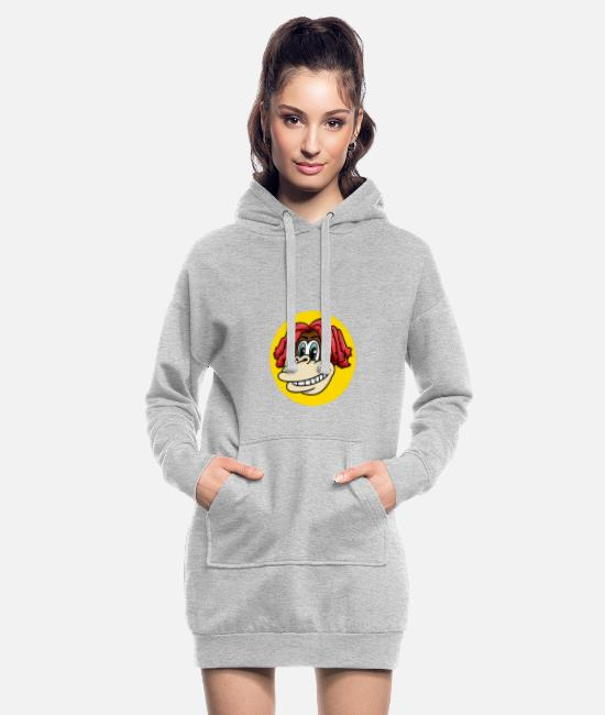 Easter Hoodies & Sweatshirts - Monkey face with cool hair for monkey fans - Women's Hoodie Dress heather grey
