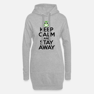Masque t shirt KEEP CALM AND STAY AWAY corona virus - Robe sweat Femme