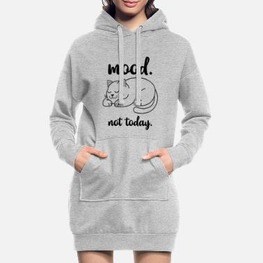 Cool Cats Silhouette Relax Cartoon Gift - Women's Hoodie Dress