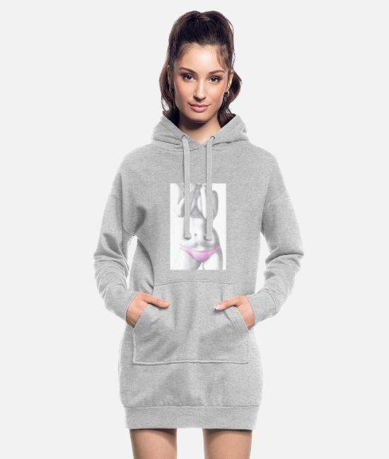 Pink Hoodies & Sweatshirts - Model - Women's Hoodie Dress heather grey