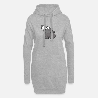 Mascot Wolf Mascot - Women's Hoodie Dress