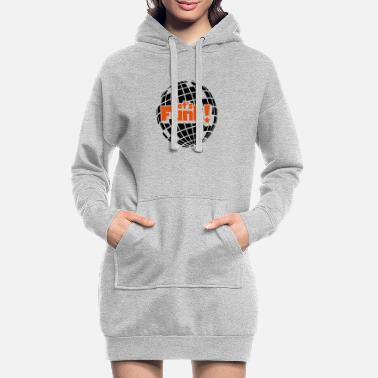 Blaxploitation Discoball - Women's Hoodie Dress