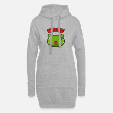 Frog Frog EMOJI NOPE - Women's Hoodie Dress