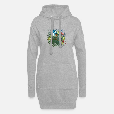 Kinder Bunter Vogel - Frauen Hoodiekleid