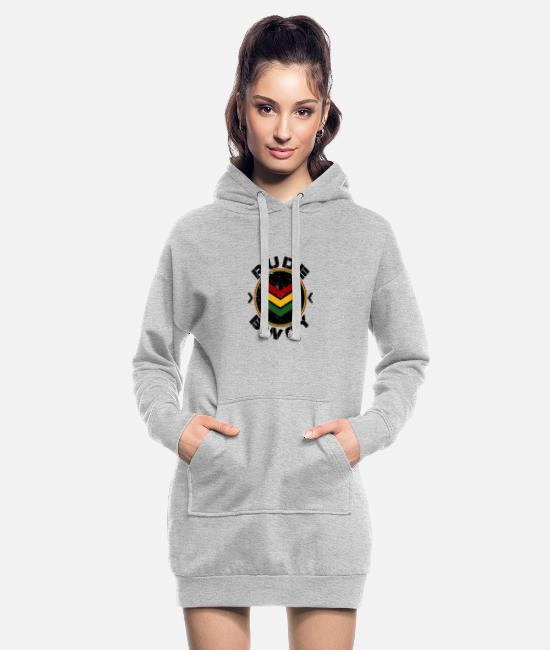 Rastafari Hoodies & Sweatshirts - Rude Bwoy - Women's Hoodie Dress heather grey