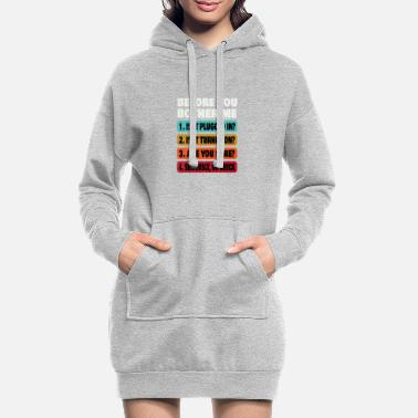 Technology Funny Information Technology Tech | Technical Supp - Women's Hoodie Dress