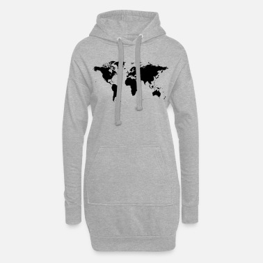 Map map of the world - Women's Hoodie Dress
