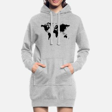 World map of the world - Women's Hoodie Dress