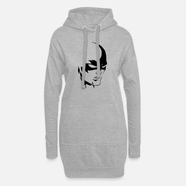 Hulk Flash Superheld Maske - Frauen Hoodiekleid
