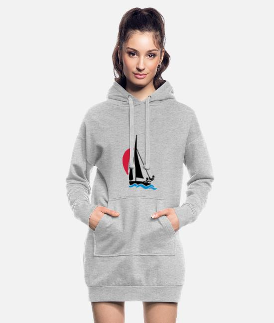 Water Hoodies & Sweatshirts - Dinghy with spinnaker - Women's Hoodie Dress heather grey