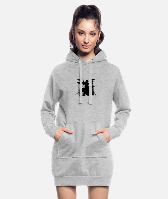 Pearl Hoodies & Sweatshirts - Drums - Women's Hoodie Dress heather grey