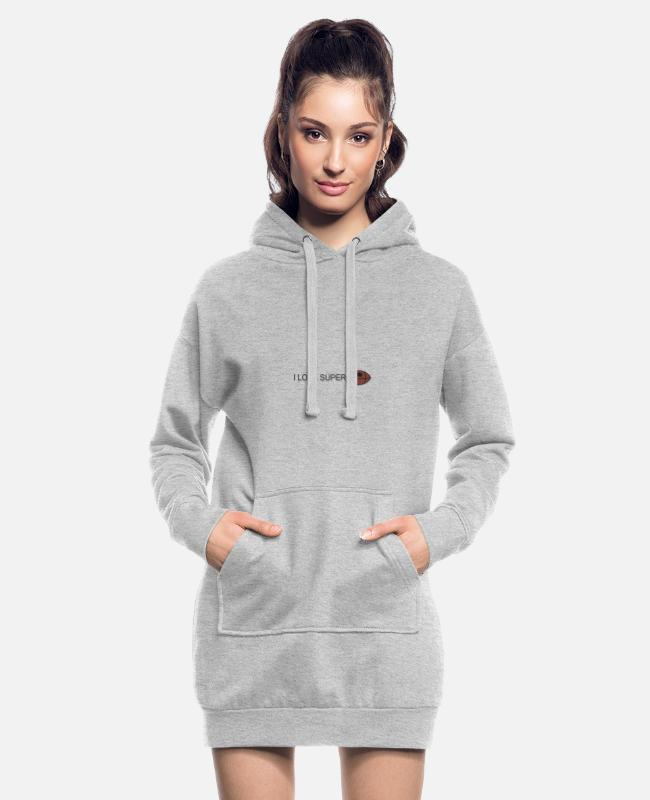 Stadium Hoodies & Sweatshirts - ilove football - Women's Hoodie Dress heather grey