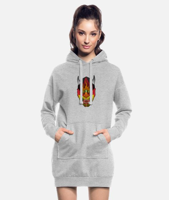 Be Different Hoodies & Sweatshirts - Asiatic Mask Asian Mask - Women's Hoodie Dress heather grey