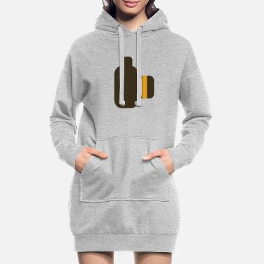 Comic Arabica - camera dslr side - Frauen Hoodiekleid