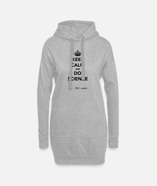Calm Hoodies & Sweatshirts - Keep Calm and Do Science - Women's Hoodie Dress heather grey