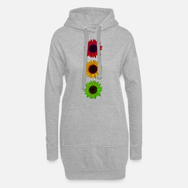Traffic Sunflowers Colorful traffic light - Women's Hoodie Dress