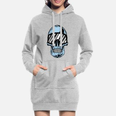 Ski Glasses ski glasses skeleton - Women's Hoodie Dress