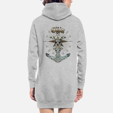 Gijón Anchor Nautical Sailing Boat Summer - Women's Hoodie Dress