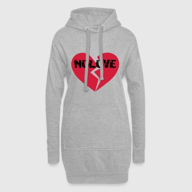 NoLove | No Love Broken Heart - Hoodie Dress
