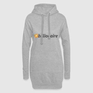 milliardaire Bitcoin - Sweat-shirt à capuche long Femme