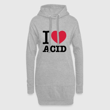 I love acide - Sweat-shirt à capuche long Femme