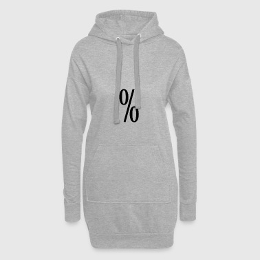 Percent T-shirt black - Hoodie Dress