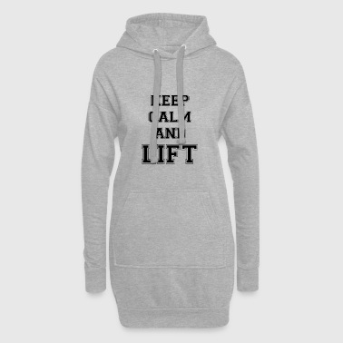 KEEP CALM AND LIFT - Black Edition - Hoodie-Kleid