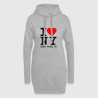 I hate NY New York tourist shirt come on - Hoodie Dress