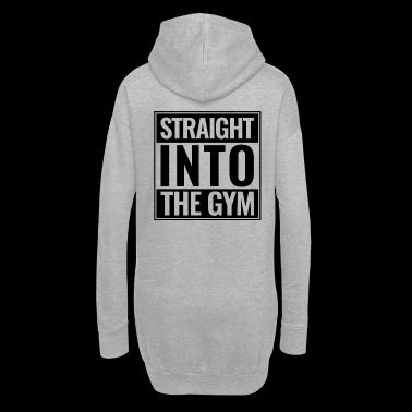 Straight Into The Gym Logo schwarz - Hoodie-Kleid