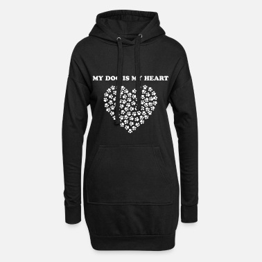 Paw Print PAW PRINT HEART! GIFT IDEA FOR HUNTERS - Hoodie Dress