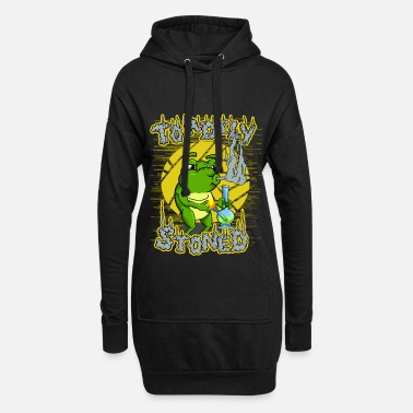 Toadily Stoned - Totally Stoned | Cannabis toad - Hoodie Dress