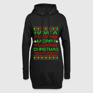 Merry Xmas You Fucker Ugly Xmas Sweater - Sweat-shirt à capuche long Femme