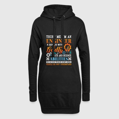 Godly Trust me i'm a genius godly engineer  - Hoodie Dress