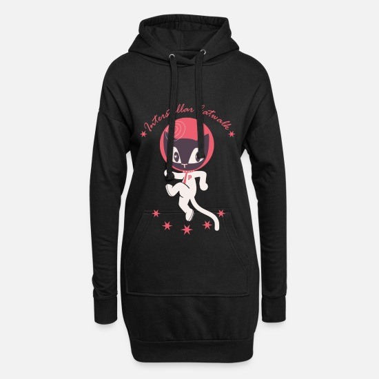 Funny Hoodies & Sweatshirts - Pussy Deluxe Interstellar Catwalk - Women's Hoodie Dress black