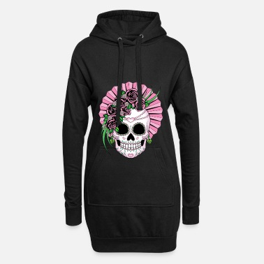 Sugar Skull Lady Sugar Skull - Hoodie Dress