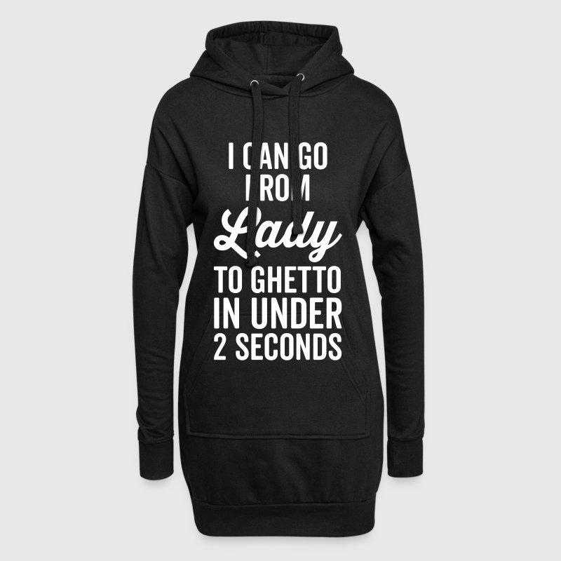 Lady To Ghetto Funny Quote - Sweat-shirt à capuche long Femme