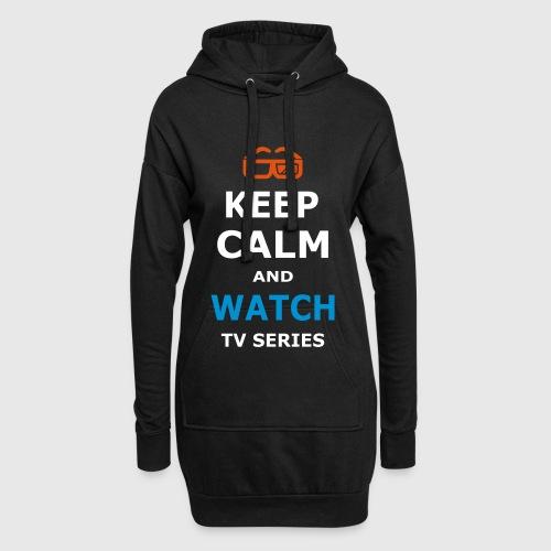 Gardez le calme et REGARDEZ SÉRIE SERIES TV Sweat shirt à capuche long Femme noir