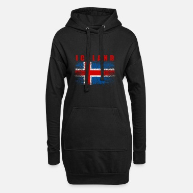Iceland Iceland Flag 008 AllroundDesigns - Hoodie Dress