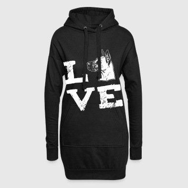 LOVE - Great dane -  Deutsche Dogge - Hoodie-Kleid