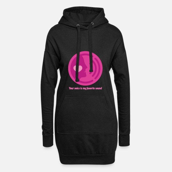 Gift Idea Hoodies & Sweatshirts - Declaration of love Say lovers - Women's Hoodie Dress black