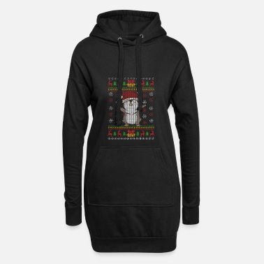 Ugly Christmas Pinguin Ugly Christmas Weihnachten Geschenk - Hoodie-Kleid