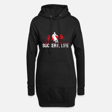 Football Football Soccer footballer footballer heartbeat - Women's Hoodie Dress