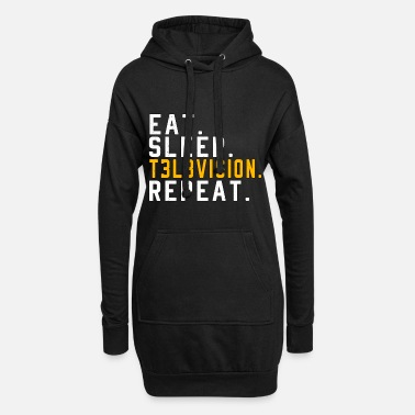 Television Eet Sleep Repeat Television TV Telly Gift - Hoodiejurk