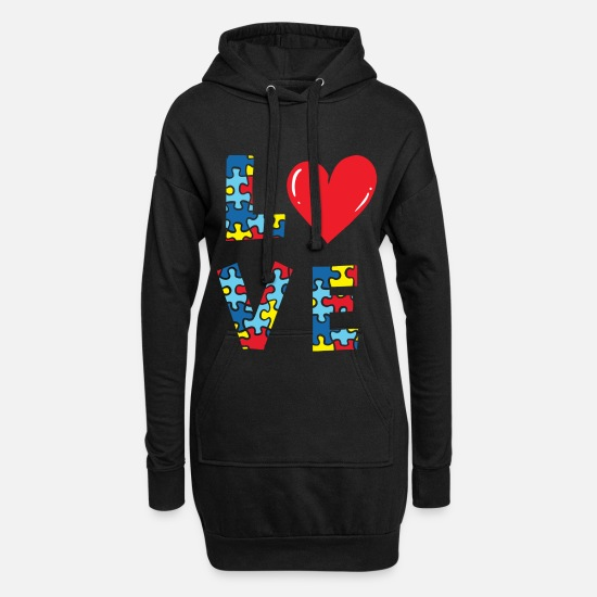 Autism Hoodies & Sweatshirts - autism - Women's Hoodie Dress black